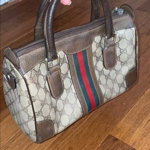 Vintage Gucci mini bag with brand print